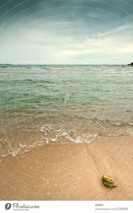 Sky Nature Blue Beautiful Green Water Summer Ocean Loneliness Calm Clouds Stone Sand Brown Horizon Idyll