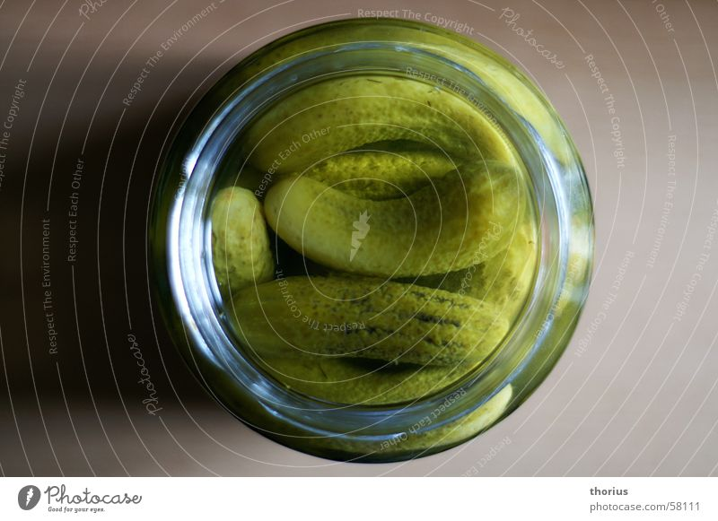 Green Glass Vegetable Cucumber Vinegar Spreewald Gherkin