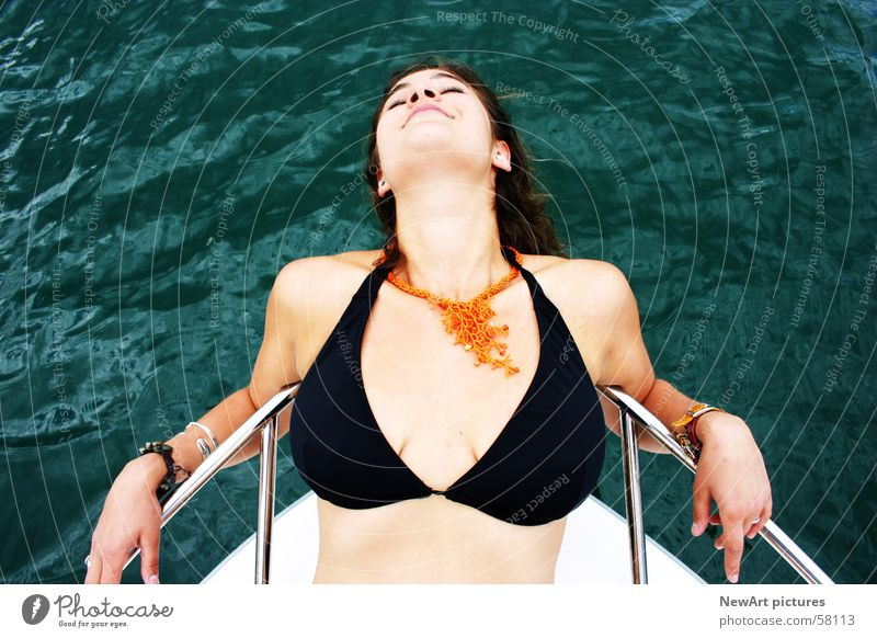 Woman Water Sun Summer Eroticism Lake Watercraft Breasts Model Profession Chest