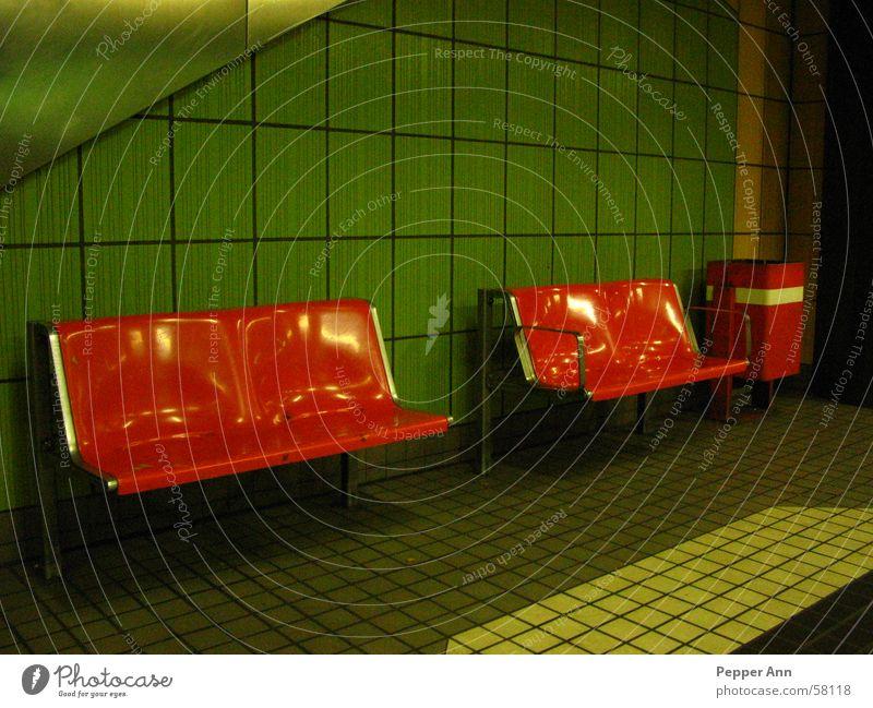 Orange Wait Dirty Tile Underground Public transit