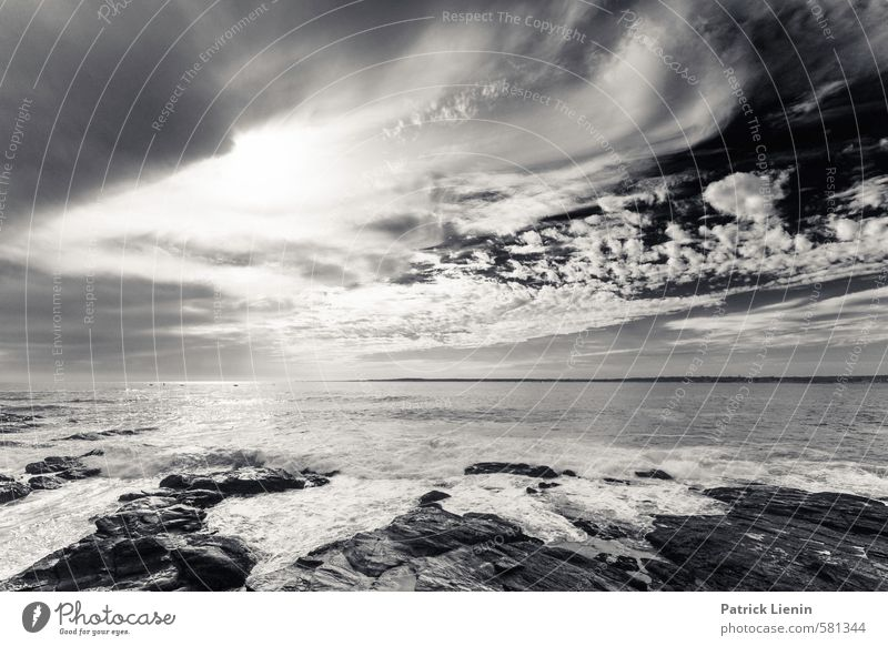 Sky Nature Sun Ocean Loneliness Landscape Clouds Beach Far-off places Environment Life Coast Dream Moody Weather Waves