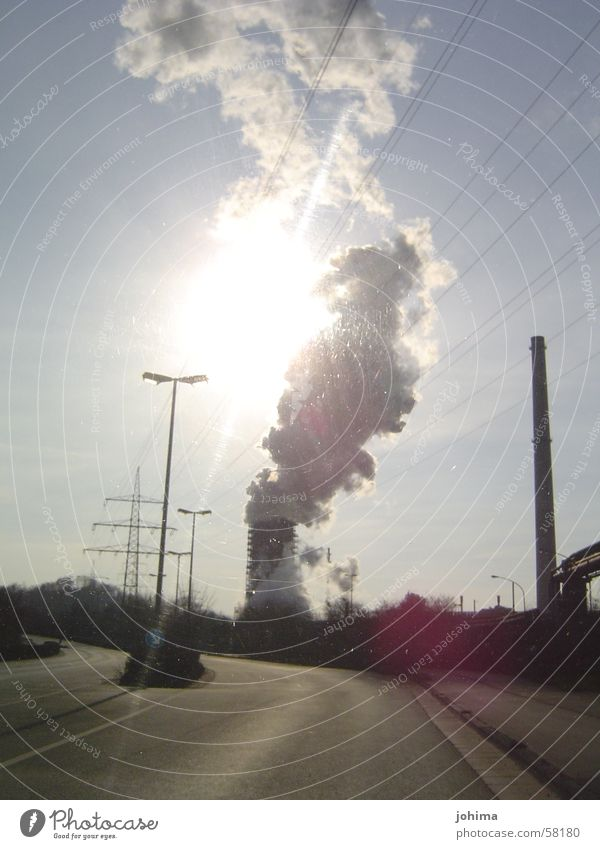 Sun Street Industrial Photography Smoke Chimney The Ruhr