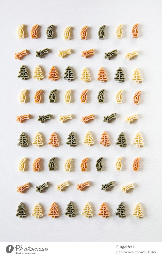 Christmas & Advent Green Red Food Arrangement Nutrition Cooking & Baking Card Gastronomy Delicious Santa Claus Fir tree Noodles Meteor