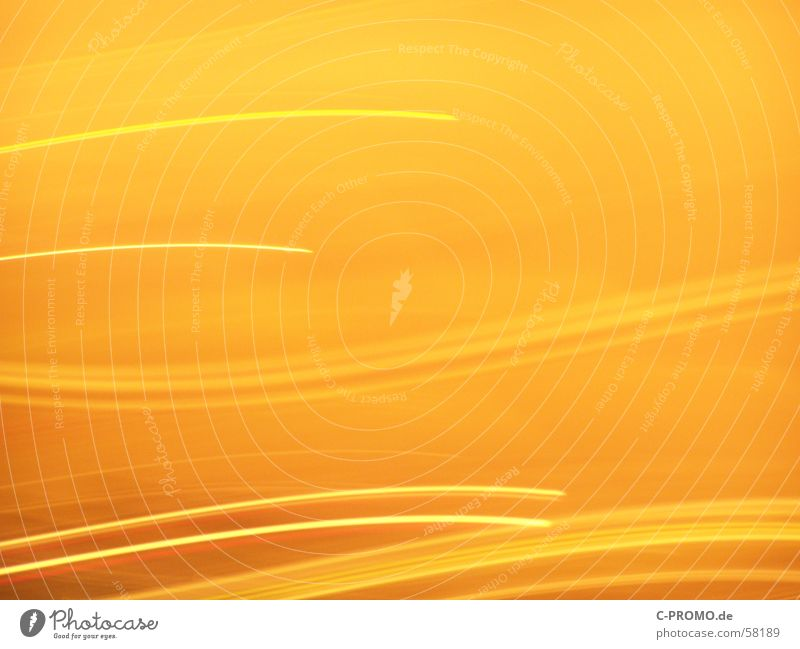 light dance Yellow Light Speed Background picture Joy Long exposure Movement Dance Orange Colour Bright Tracks color brightly keep in track