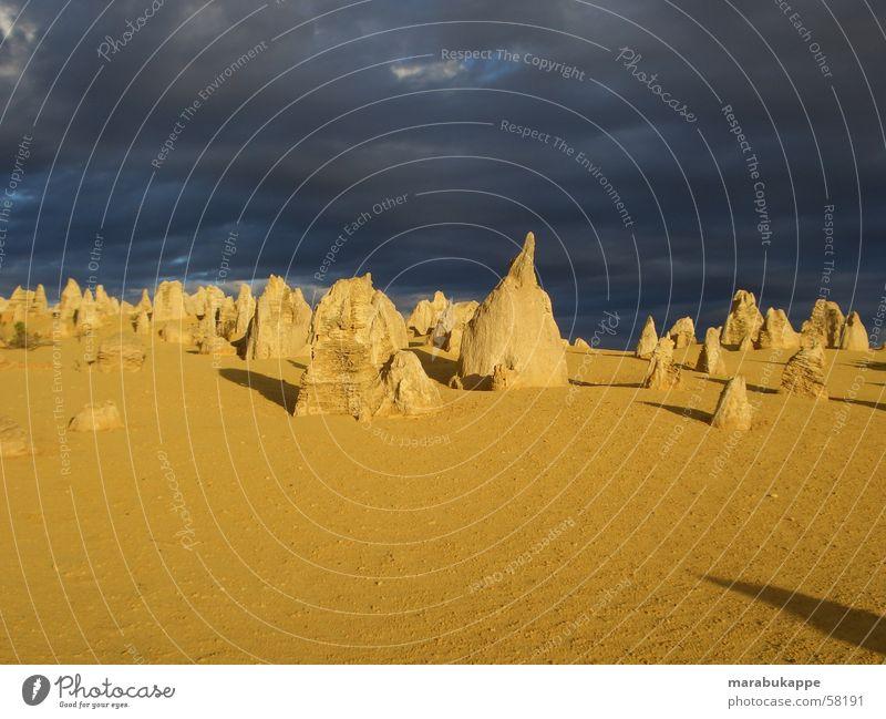 Rock Creepy Thunder and lightning Australia Gooseflesh Sandstone Lunar landscape Pinnacles