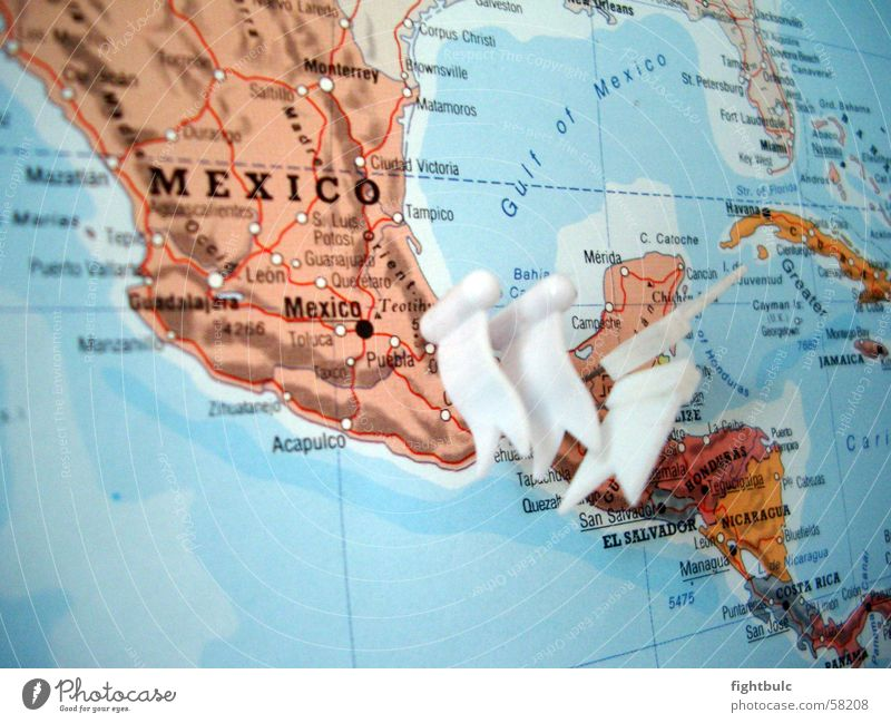 Mexico from above Map of the World Ocean Earth worldmap
