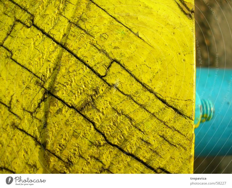 yellow- blue Wood Screw Structures and shapes Colour Line