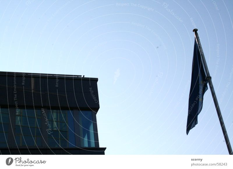 Hanging flag House (Residential Structure) Flag Europe Sky Blue