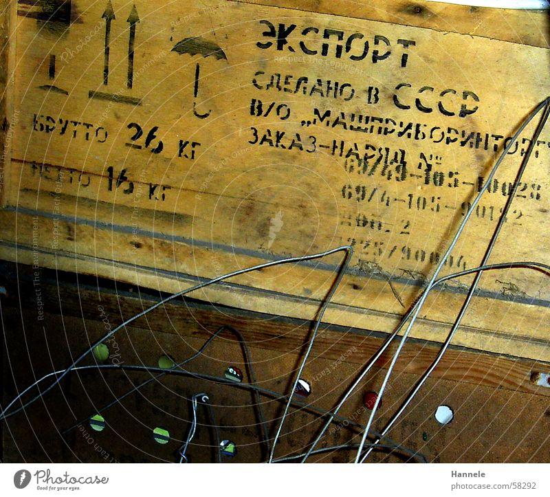 Old Brown Characters Nostalgia Wire Crate Pressure Carton Attic Tea chest