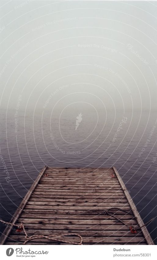 Boat Dock Nature Water Ocean Loneliness Autumn Wood Lake Fog Weather Rope Canada Lakeside Jetty Drop anchor