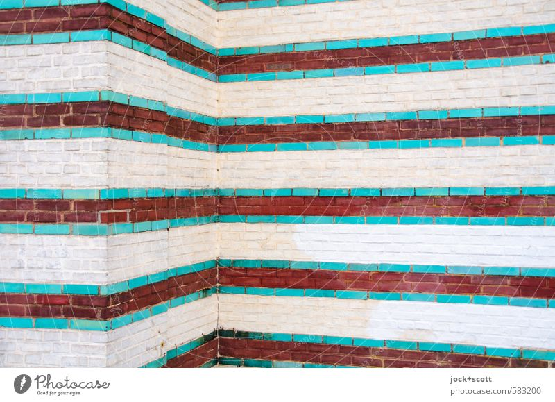Moorish way Work of art Architecture Culture Potsdam Wall (building) Corner Brick Stripe Historic Esthetic Elegant Exotic Creativity Quality Luxury Decoration