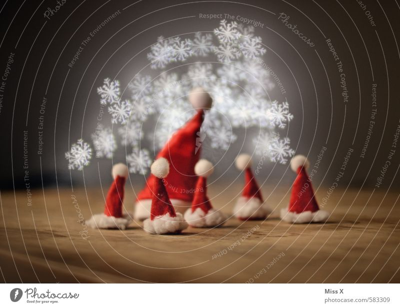 Christmas & Advent Group Moody Family & Relations Glittering Illuminate Decoration Point Communicate Group of children Team Attachment Cap Santa Claus Teamwork