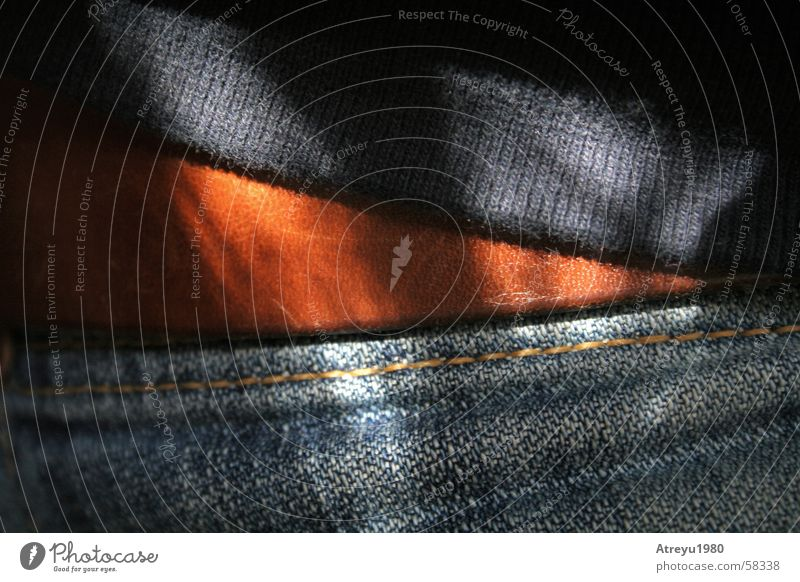 Sun Blue Black Brown Jeans Pants Cloth Sweater Leather Belt Stitching