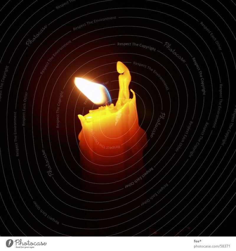 Yellow Warmth Air Blaze Candle Burn Flame Wax Candlewick