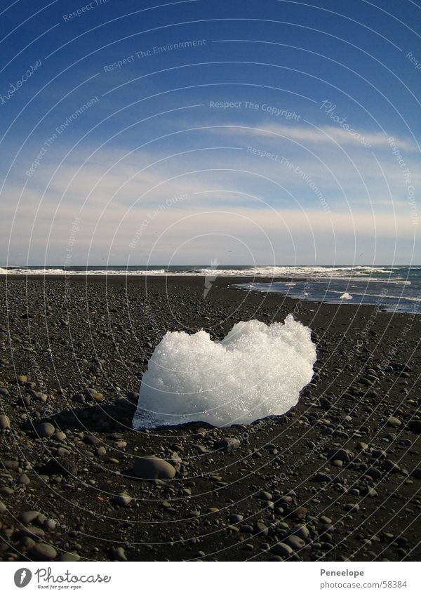 Ice on the beach II Express train Black White Clouds Ocean Waves Air Iceberg Iceland Blue Sky beach stone Nature Freedom Mountain Block of ice