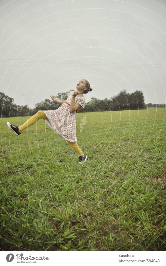 Human being Child Sky Nature Youth (Young adults) Green Summer Young woman Landscape Girl Face Environment Meadow Feminine Sports Grass