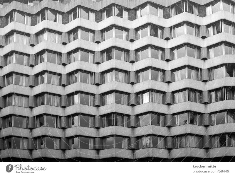 human honeycombs Gray House (Residential Structure) Concrete Block London Window Gloomy Grief Tower block Pattern Settlement Cold England Indifference Dark