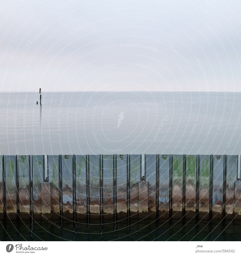 Sky Blue Old Green Water Ocean Cold Wall (building) Coast Wall (barrier) Lake Horizon Dirty Gloomy Transience Protection