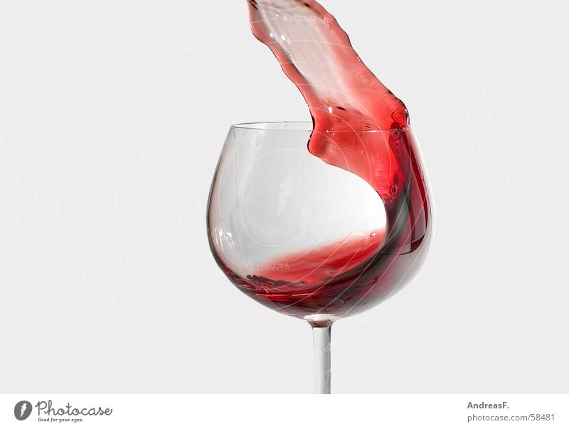Perfect wave Slosh Red wine Spill Experimental Waves Fast-flowing stream Wine glass Daub Cottbus Wine expert Mug Winegrower Patch Glass Alcoholism Gastronomy