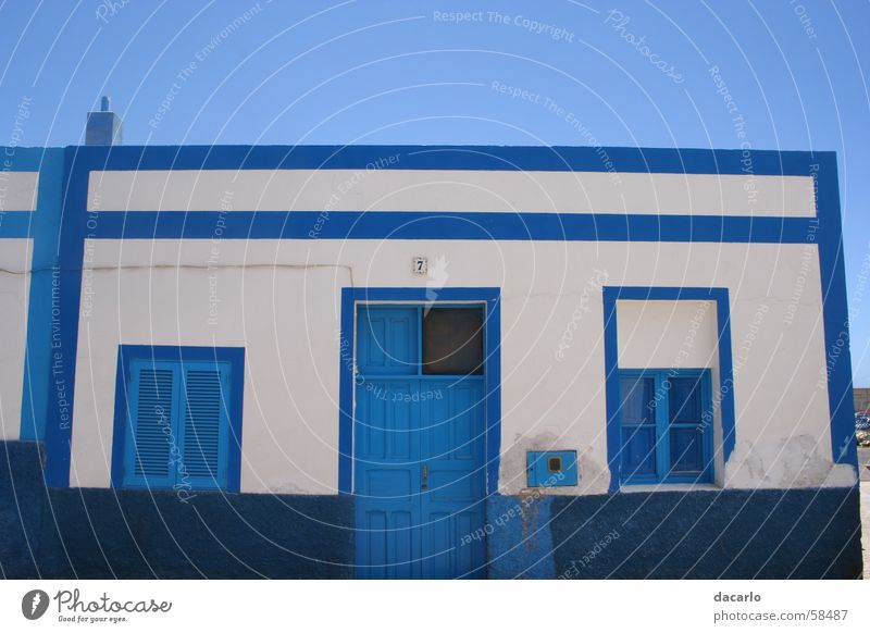 Blue House (Residential Structure) Greece Mediterranean sea