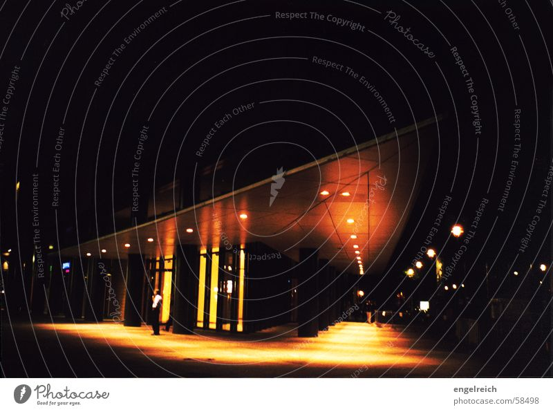 City Dark Berlin Building Moody Perspective Night