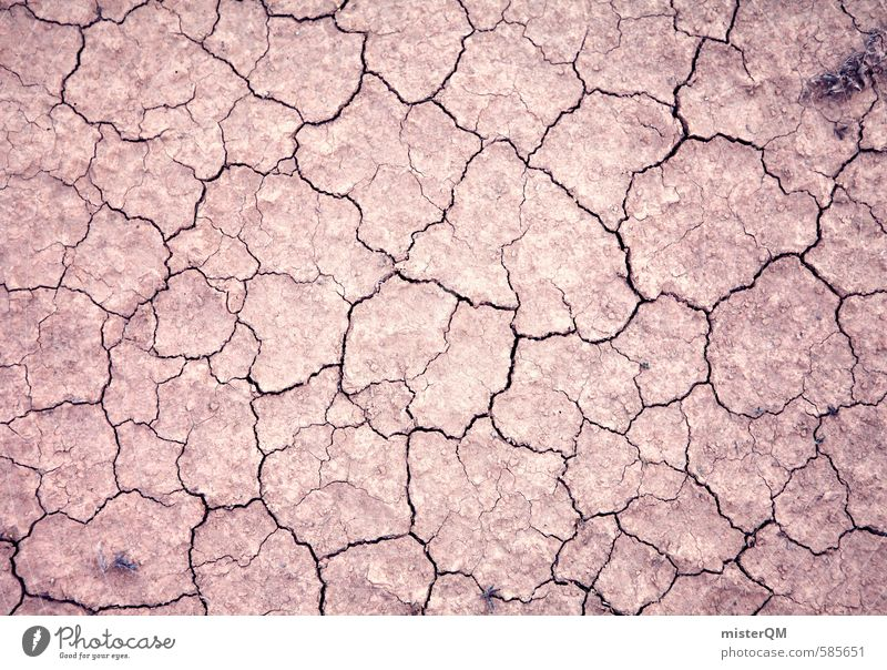 I.love.FV XLIII Art Esthetic Floor covering Ground Desert Pattern Crack & Rip & Tear Old Dry Warmth To dry up Lacking Colour photo Subdued colour Exterior shot