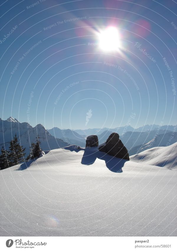 Vacation & Travel Beautiful White Sun Landscape Mountain Snow Air Free Switzerland Austria