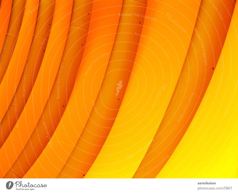 orange wave Yellow Stripe Wall (building) Round Waves Pattern Photographic technology Orange