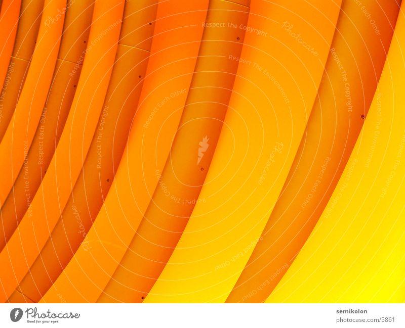 Yellow Wall (building) Orange Waves Round Pattern Stripe Photographic technology