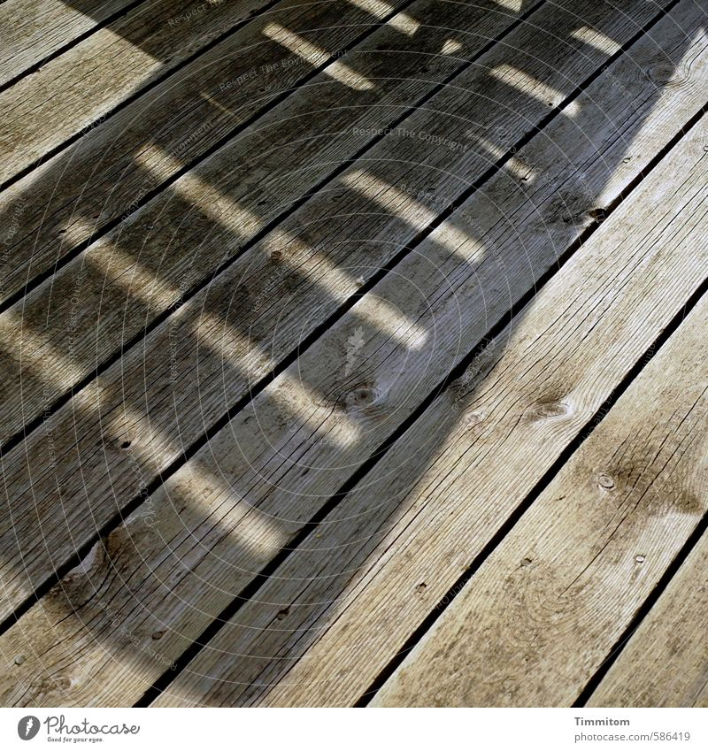 Lying on beds. Vacation & Travel Denmark Vacation home Terrace Wood Esthetic Simple Gray Emotions Joy Calm Relaxation Shadow Wooden floor Wood grain Line