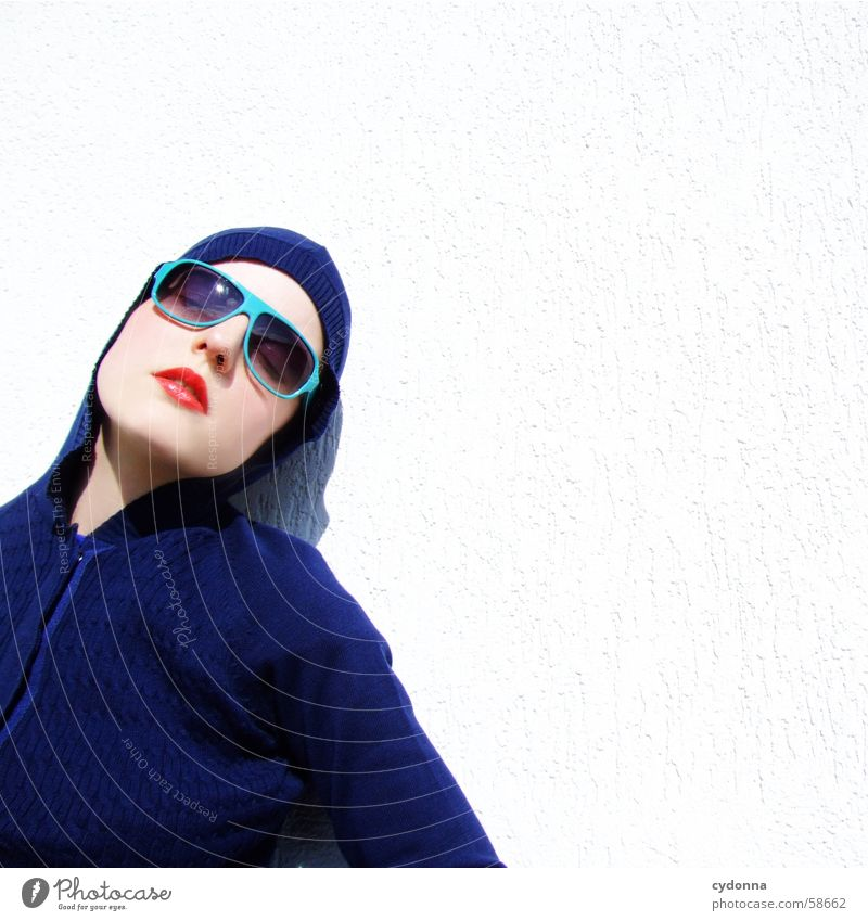 sunglasses everywhere XV Lips Lipstick Light Style Row Woman Portrait photograph Glittering Cosmetics Sunglasses Gesture Skin session Human being Face