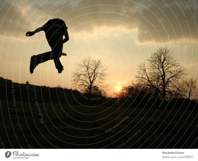 Sun Spring Sports Moody Jump Statue Window pane Acrobat Freestyle Juggle Frisbee Air