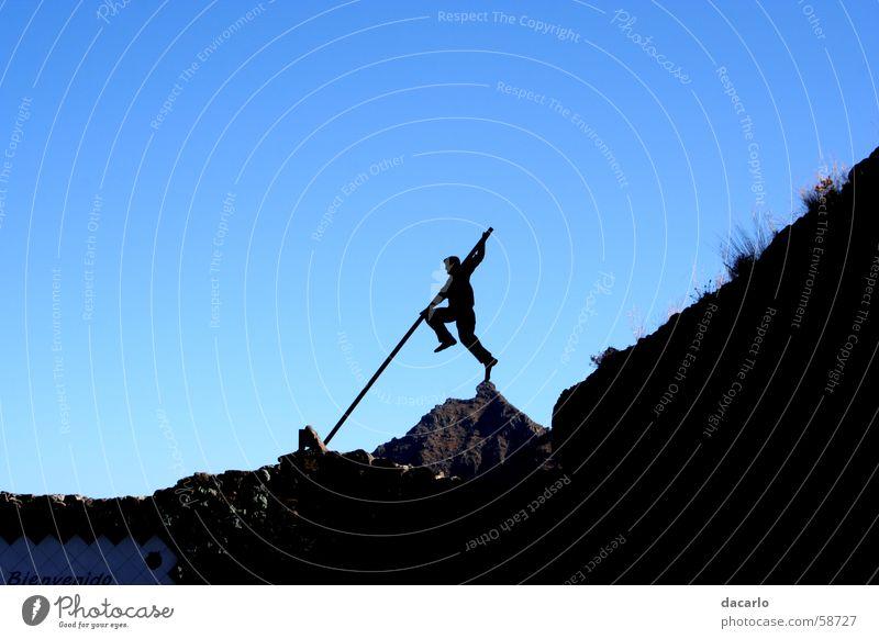 goalkeeper Stick Pole-vault High jump Sky Mountain