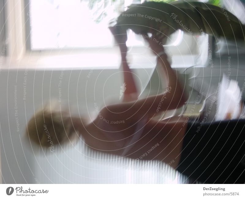 relocation Woman Extract Motion blur Blonde Movement Skin