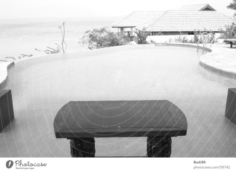 table @ pool table pool black white thailand rest