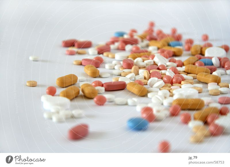 Grandma's best - they go to your heart! Pill Health care Medication Pharmaceutics White Pink Yellow Brown Overdose Healthy Blue Heap Many Multiple Addiction