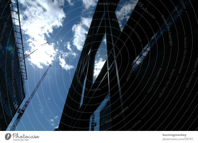 Sky Sun Blue Clouds Window Building Glass High-rise Beautiful weather