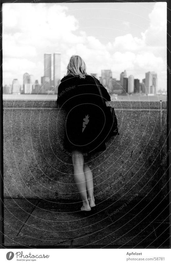 new york Woman New York City Town Landscape