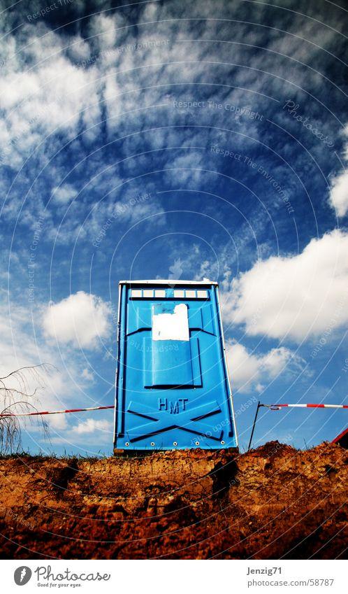Sky Clouds Sit Construction site Meeting Toilet Store premises Rental toilet