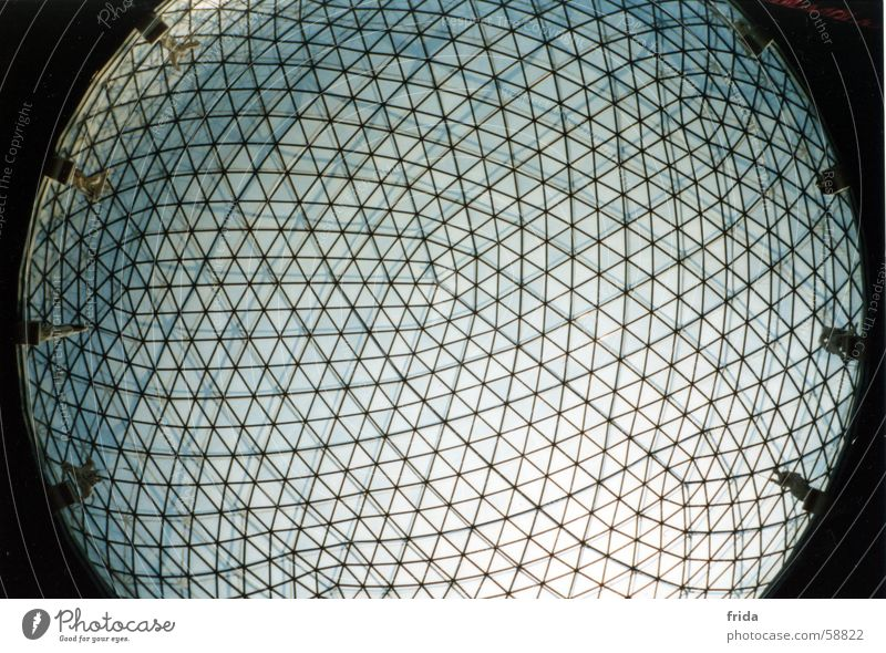 glass dome Light Round Worm's-eye view Pattern Convex Concave Glass Sphere Sky Teatro Museo Dalí Lens