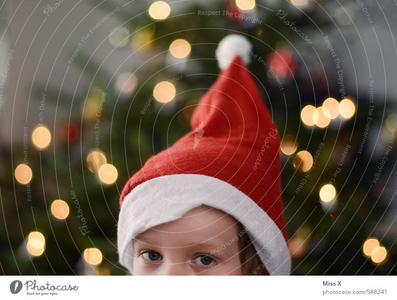 Human being Child Christmas & Advent Eyes Head Infancy Point Cute Curiosity Cap Christmas tree Toddler Santa Claus 3 - 8 years Santa Claus hat Goblin