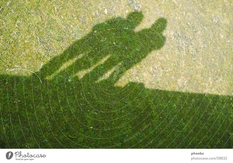 what you can't do in a lunch hour. Grass Meadow Wall (barrier) Light Green Midday Downward Shadow Lawn Human being Sun Graffiti Above Tall