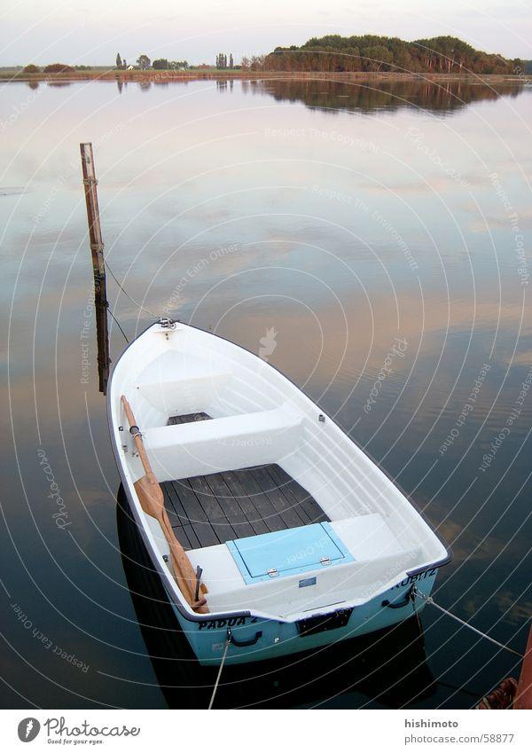 Water Sky Ocean Calm Lake Watercraft Open Longing Pole Rügen Honest Rowboat Chance Possible Opportunity