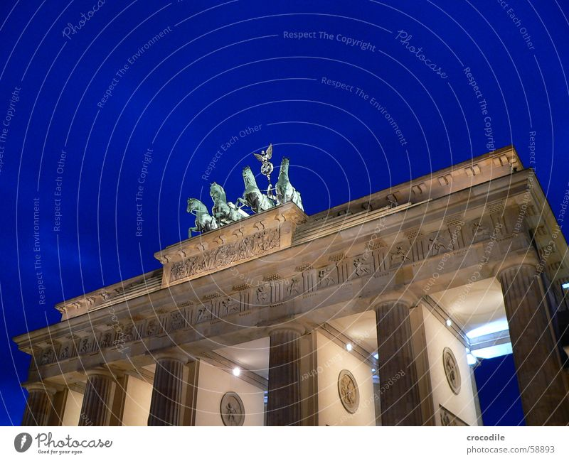 Sky Green Blue Yellow Lamp Berlin Stone Lighting Might Monument Symbols and metaphors Traffic infrastructure Landmark Rider Brandenburg Gate