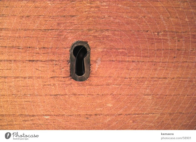 Wood Mysterious Key Rack Drawer Clerk Keyhole