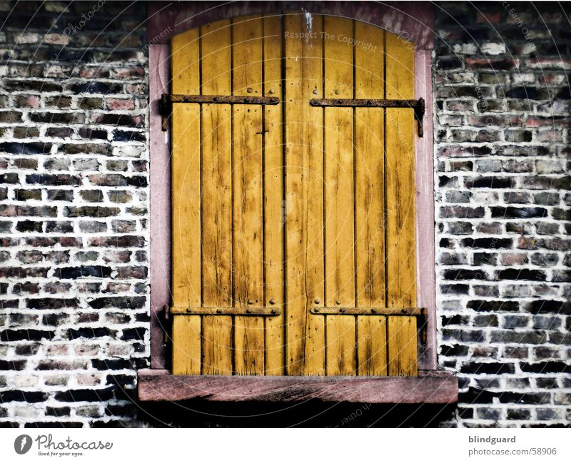Window Wood Wall (barrier) Brick Old building Shutter Wood flour