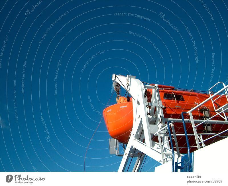 lifeboat Dinghy Lake Watercraft Ferry Sky Blue Orange Maritime disaster