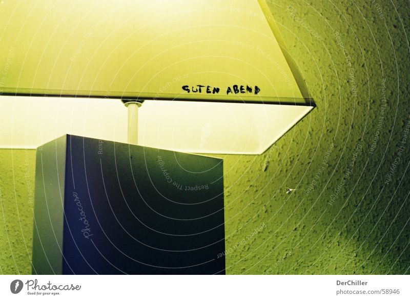 good evening Lamp Wall (building) Greeny-yellow Interior shot atmosphere