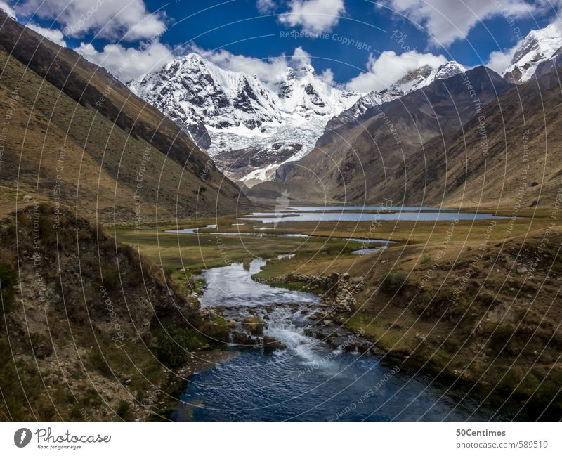 Mountain river in the Andes of Peru Vacation & Travel Tourism Trip Adventure Far-off places Freedom Safari Expedition Summer vacation Hiking Mountaineering