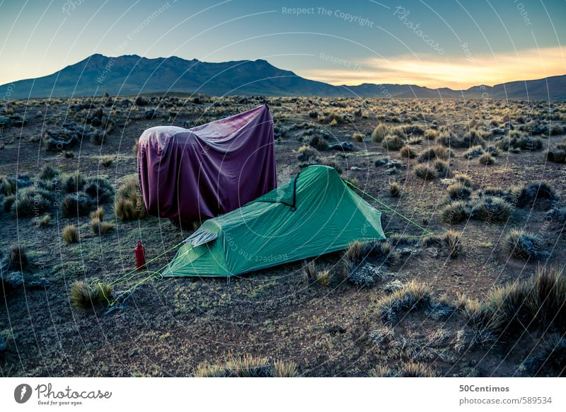 Camping with the motorcycle in the wasteland Joy Vacation & Travel Tourism Trip Adventure Far-off places Freedom Safari Expedition Environment Nature Landscape